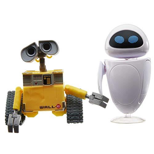Disney Pixar GLX86 Wall-E und Eve Figuren, superbeweglich, für realistische Actionszenen, mit authentischen Details, Spielfiguren für Kinder ab 3 Jahren