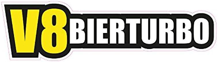1 X Aufkleber V8bierturbo Bier Turbo Sticker Tuning Autoaufkleber Fun Spruch Jdm Auto