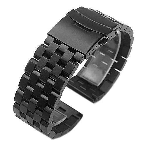 Kai Tian Correa de reloj de repuesto para reloj inteligente Samsung Gear S3 Classic, de acero inoxidable, correa Gear S3, color negro