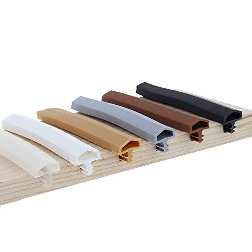 ToniTec Türdichtung Dichtprofil für Holztür Zarge Zargendichtung 12mm 25m Weiß