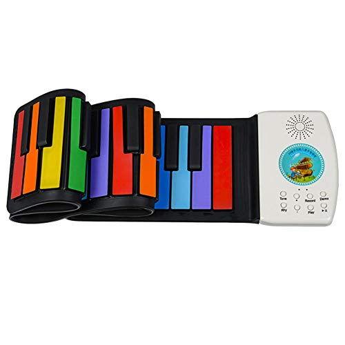 Buy Bargain EXUVIATE Mini Keyboard Piano 49-Key, Multi-Function Piano Keyboard Portable Roll-Up Pian...