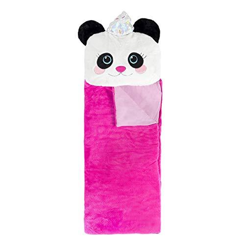 Three Cheers for Girls 3C4G 3-in-1 Fabulous Fur Sleeping Bags – Pandacone Design thumbnail image