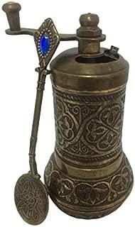 Pepper Mill, Spice Grinder, Pepper Grinder, Turkish Grinder (Antique Gold, 4.2
