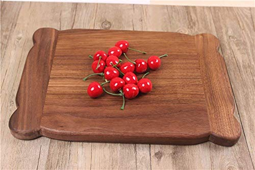 Mini Houten Snijplank baby Assisted Eten Mini mengtafel Dienblad Eten in Black Walnut A chopping board (Size : 40x29x2.4cm)