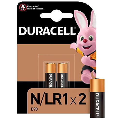 Duracell N - Batteria Specialistica Sicurezza 6V, MN9100/E90/LR1 Progettate per l'Uso in Torce Elettriche, Calcolatrici e Luci per Biciclette, Confezione da 2