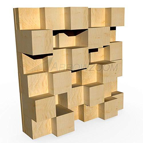 Acepunch Nuevo Quadratic Skyline - Difusor acústico de madera para...