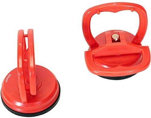 2 x Mini-Saugheber-Satz Glassauger, Saugnapf/kleine Saugnäpfe ø 55 mm (Einhand-Saugnapf)