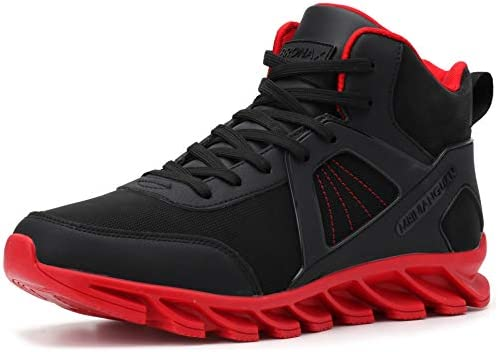 BRONAX Mens Basketball Sneakers with Ankle Support Leather Performance Size 8 Fashion Sports product image