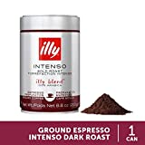 illy Intenso Ground Espresso Coffee, Dark Roast, 8.8 oz