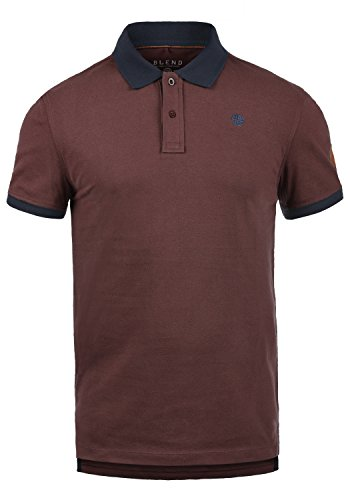 Blend Ralf Herren Poloshirt Polohemd T-Shirt Shirt Mit Polokragen Aus 100% Baumwolle, Größe:S, Farbe:Deep Red (73822)