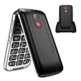 Uleway Senior Flip Phone Unlocked with SOS Big Button 3G T Mobile Flip Phone 2.8 Inch Screen GSM Flip Phone Large Button Large Volume Basic Cell Phones with Charging Dock(Black)