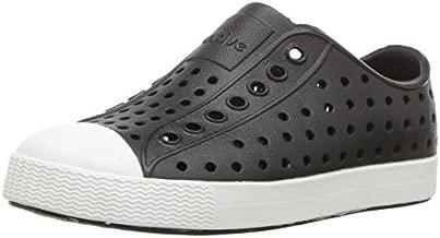 Native Shoes, Jefferson Child, Kids Lightweight Sneaker, Jiffy Black/Shell White, 11 M US Little Kid