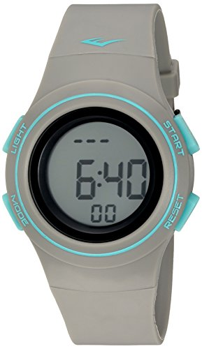 Everlast 'Heart Rate Monitor' Automatic Plastic and Rubber Fitness Watch, Color:Grey (Model: EVWHR006GY)