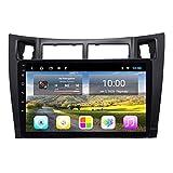 Navegador estéreo para coche de 9 pulgadas para Toyota Yaris 2008-2011, FM/RDS/Bluetooth/Mirror Link/Cámara de visión trasera/Control de volante