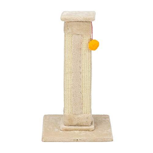 LYDIANZI 21'Torre del Sostenedor De La Subida del Gato Árbol del Gato Rascador del Gato Poste del Sisal Torre Que Sube del árbol Beige