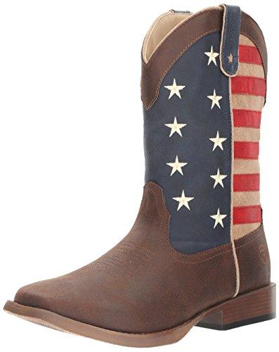 Roper Men's American Patriot Western Boot, Brown, 11