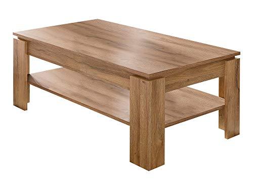 Newfurn salontafel woonkamertafel natuur II 110x47x 65 cm (BxHxD) II [Jonas.Fourte] in oude eiken melamine / oude eiken melamine woonkamer