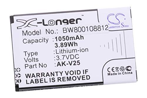 Preisvergleich Produktbild vhbw Li-Ion Akku 1050mAh (3.7V) für Handy Smartphone Telefon Emporia Euphoria,  Pure,  V25,  V25_001,  V50,  V50_001 wie AK-V25,  AK-V25 V2.0.