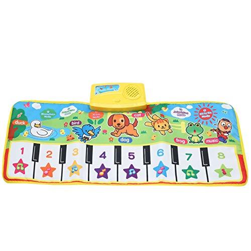 Zzlush Educational Spielzeug Kinder Lernen Musical-Matte mit Tier-Stimme-Baby-Klavier, die Teppich-Musik-Spiel-Instrumentenspielwaren spielt, frühes pädagogisches Spielzeug für Kinder Klaviergeschenk