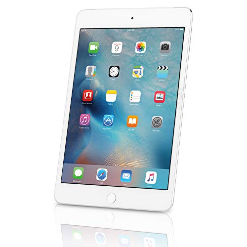 Apple iPad mini 4 - 128GB Wi-Fi - Silver (Renewed)