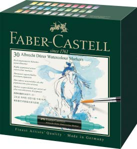 Faber-Castell Albrecht Durer Artists' Watercolor Markers – 30 Assorted Colors – Multipurpose Art Markers …