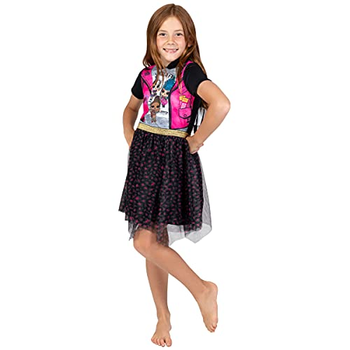 L.O.L. Surprise! Dolls Little Girls Tulle Hooded Costume Short Sleeve...
