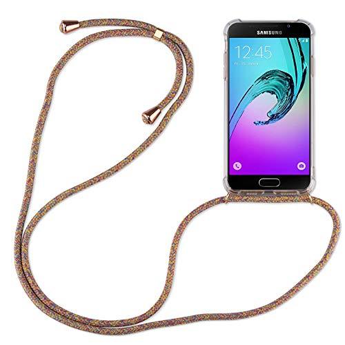 betterfon | Samsung Galaxy A3 2016 Handykette Smartphone Halskette Hülle mit Band - Schnur mit Case zum umhängen Handyhülle mit Kordel zum Umhängen für Samsung Galaxy A3 2016 SM-A310 Rainbow