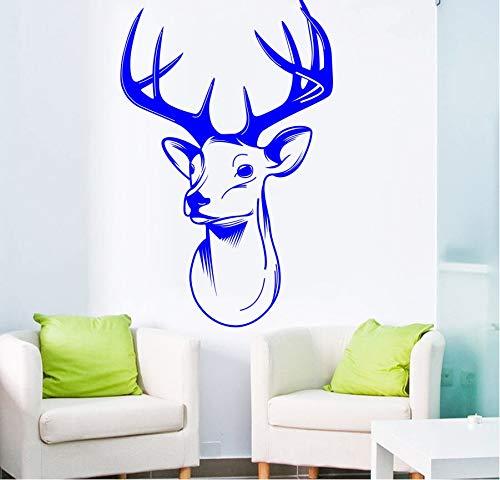 zwyluck Art wandsticker hert stress wandsticker voor woonkamer kunst decoratie trofee Antlers wanddecoratie 57 x 90 cm