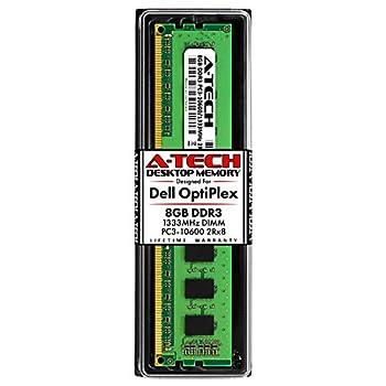 A-Tech 8GB RAM Stick for Dell OptiPlex 9010 7010 3010 990 790 390 DT/MT/SFF/USFF - DDR3 1333MHz PC3-10600 Non-ECC DIMM Memory Module
