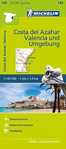 Michelin Zoomkarte Costa del Azahar, Valencia und Umgebung 1 : 150 000: Straßen- und Tourismuskarte