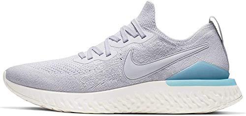 Nike Men's Epic React Flyknit 2 Running Shoes Grey/Blue, 13