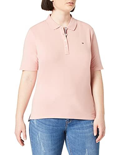 Tommy Hilfiger Damen TH Essential REG Polo SS Baby-und Kleinkind-Tank-Top, Pink, M