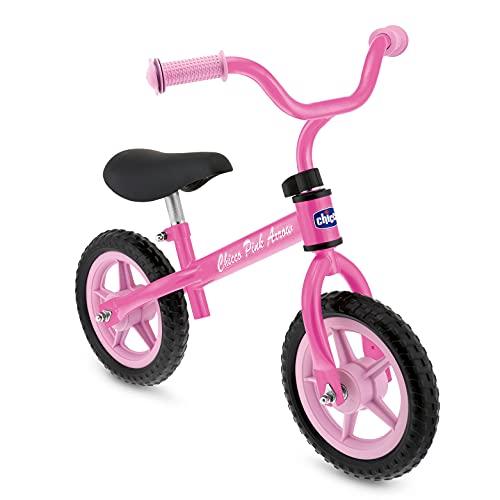 Chicco Bicicleta sin Pedales First Bike para Niños de 2 a 5 Años hasta 25 Kg, Bici para Aprender a Mantener el Equilibrio con Manillar y Sillín Ajustables, Color Rosa -para Niños de 2 a 5 Años