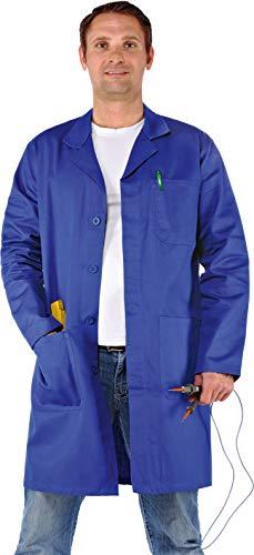 Wellwork - Arbeitsmantel Berufsmantel Berufskittel Kittel aus Baumwolle Gr.XS-5XL (XL, Kornblau)