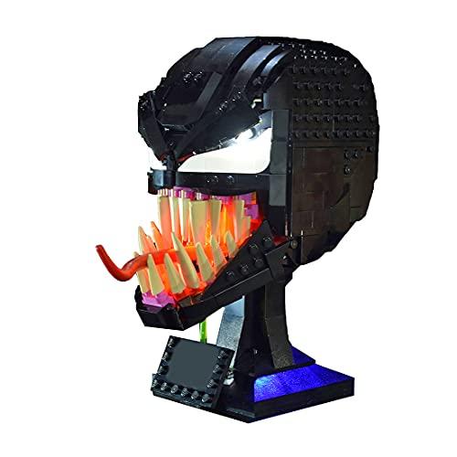 YAKIA Juego de iluminación LED compatible con la máscara Lego Marvel Spider-Man...