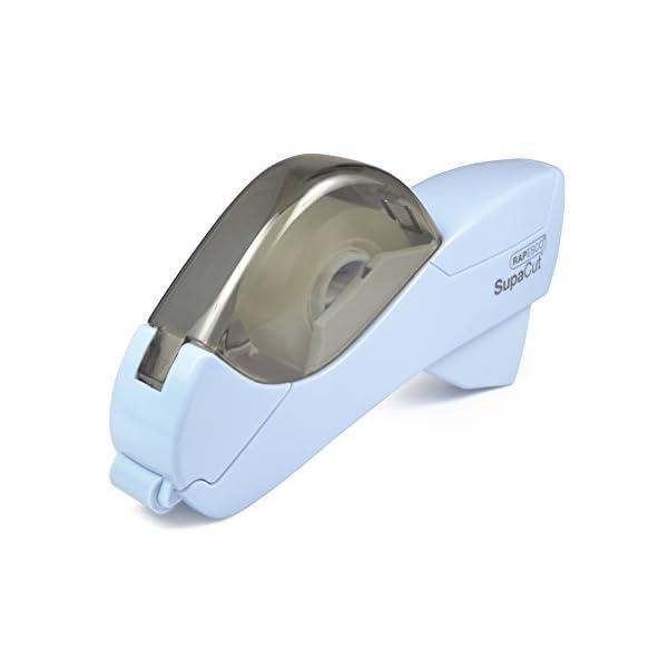 Rapesco SupaCut – Dispensador de cinta adhesiva + 2 rollos, color