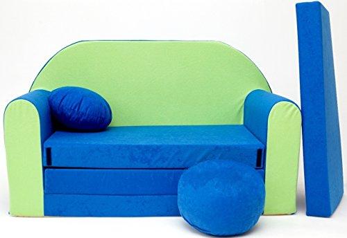 Canapé en mousse pour enfants - Oreiller - Lit - Pouf - Matelas