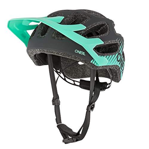 O'NEAL | Fahrradhelm Mountainbike | MTB Downhill Freeride | All-Mountain-/Enduro-Helm, einstellbare Passform | Thunderball Helmet Airy | Erwachsene | Schwarz Mint | Größe XXS/52-M/57