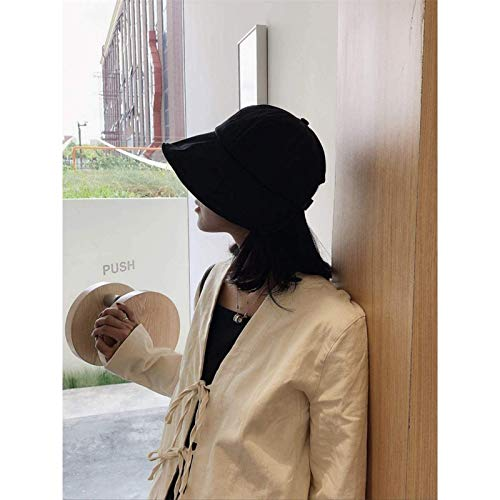 Vbtsqp Sombrero Adecuado de Cara Redonda Ajustable Versión Coreana Sombrero de Pescador Verano japonés Estilo Fino Red Sombreado Rojo Sombrero para el Sol Sombrero de Lavabo