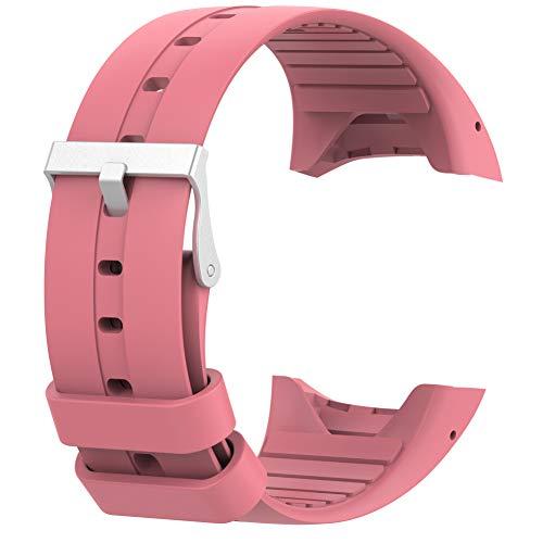 RYRA Correa de reloj de silicona compatible con Polaris M400 M430, correa de repuesto transpirable para rastreador de actividad deportiva