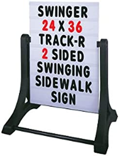 """Standard 32""""x42"""" White 2 Sided Changeable Message Board Swinger Sidewalk Curb Sign with Letters"""