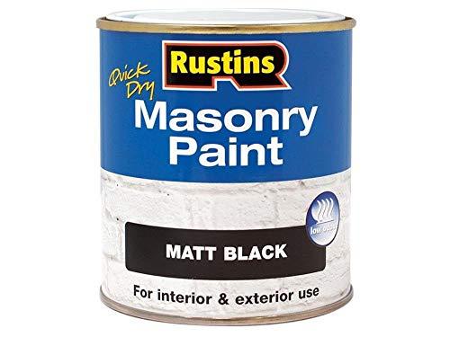 Rustins MASPB500 Masonry Paint Black 500ml, 500