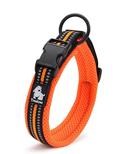 Kismaple Adjustable Reflective Dog Collar Padded Soft Cosy Breathable Collar for Small/Medium/Large Dogs, Lightweight Outdoor Training Collars