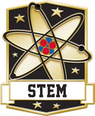 Crown Awards Science STEM Education Pins - Science Pins - Academic Lapel Pins 10 Pack