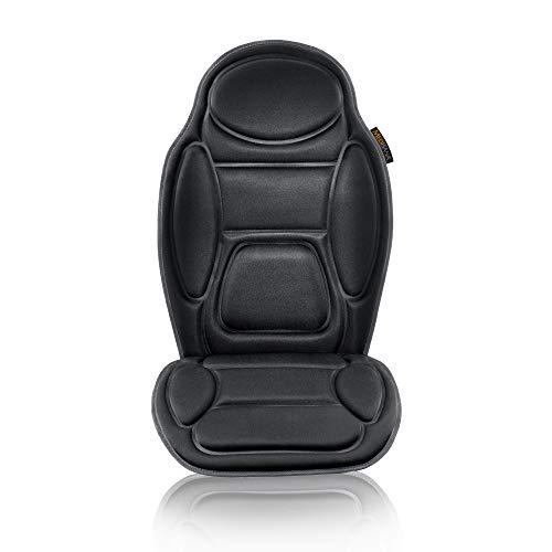 Medisana MCH Massagesitzauflage für das Auto, Massageauflage mit Vibration, 5 Massageprogramme, Autositzauflage für Schulter, Rücken, Taillie und Oberschenkel - Sitzheizung mit Wärmefunktion