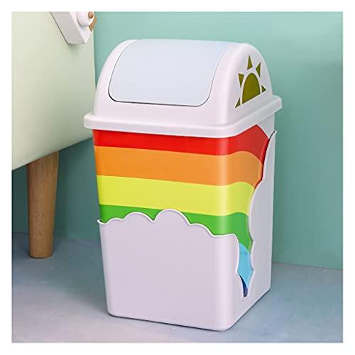YZERTLH Cubo de Basura Tipo de glándula Simple Bote de Basura Basura Baño Baño Cocina Sala de Estar Hogar Papelera Interior Basura de Almacenamiento Cubos de Basura Cocina (Color : Blue)