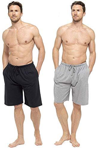 CityComfort Pantalones de Vestir Lounge para Hombre con Parte Inferior con puños o Pantalones Cortos Salón (XL, Gris y Negro)