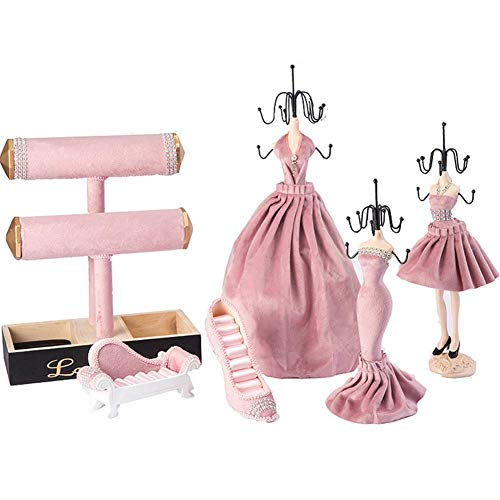 Earring stand, storage box, fashion jewelry display stand, jewelry photography display prop storage box, very suitable for room home decoration crafts gifts (6 pieces)