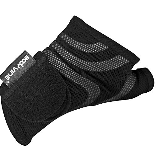 Triple Compression 3D Cut Comfort Wrist Support Plus, 3-Lagen 3D Komfort Kompressions Handgelenk Bandage mit Power-Band Compression Taping, graues Tape