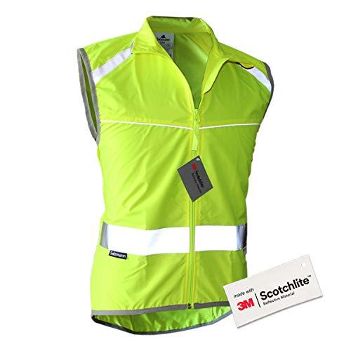 Salzmann 3M Reflektierende Fahrradweste - Mit luftdurchlässigen Mesh-Einsätzen und Rückentasche - Hergestellt mit 3M Scotchlite